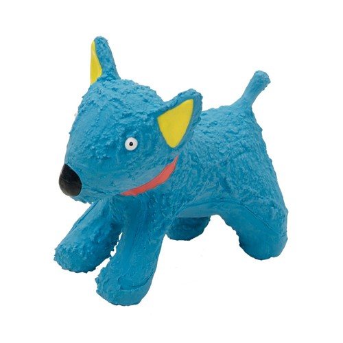 "Li'l Pals® 4"" Latex Blue Dog Toy Product image"